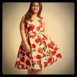 NWT CHI CHI LONDON high tea time floral dress sz22